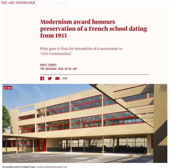 2018 World Monuments Fund/Knoll Modernism Prize Winner the Art Newspaper