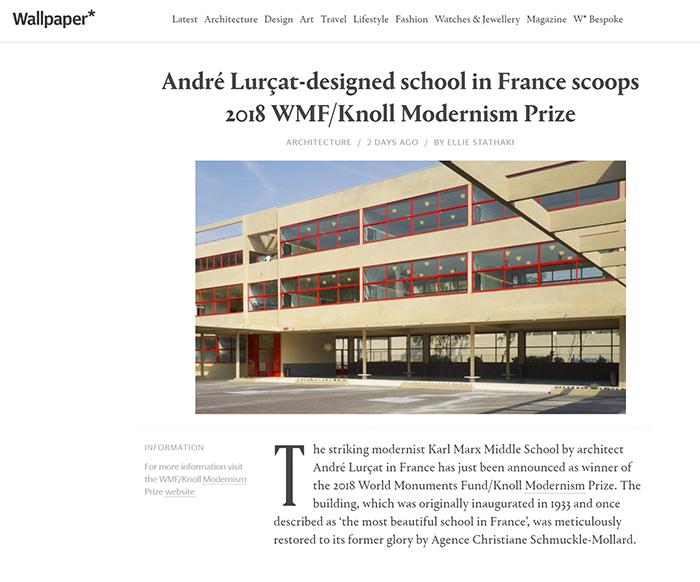 2018 World Monuments Fund/Knoll Modernism Prize Winner Wallpaper Magazine