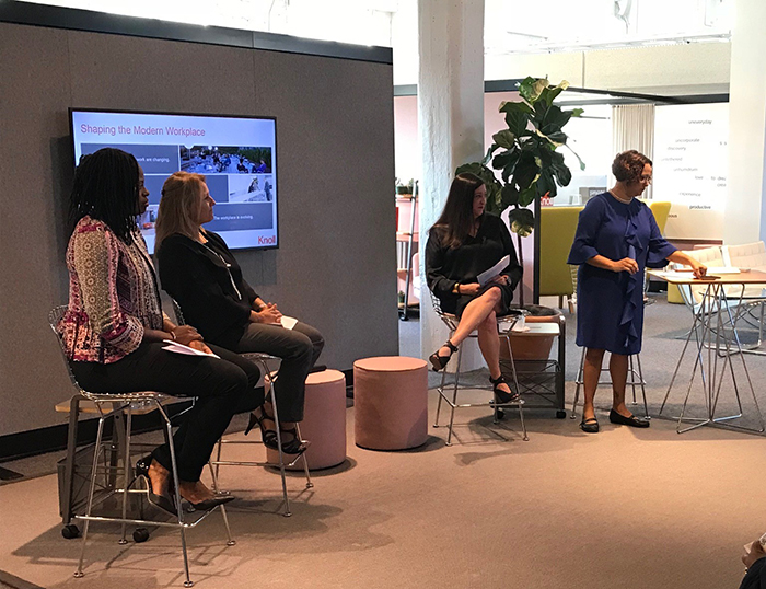 Going Beyond Wellness Well-Being Panel Discussion Knoll Atlanta Showroom