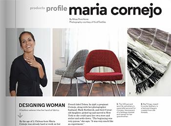 Maria Cornejo in Hospitality Design