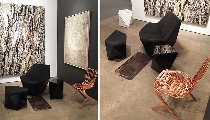 The Washington Skeleton Aluminum Side Chair In Copper And Prism Adjaye S Latest Furniture Collection