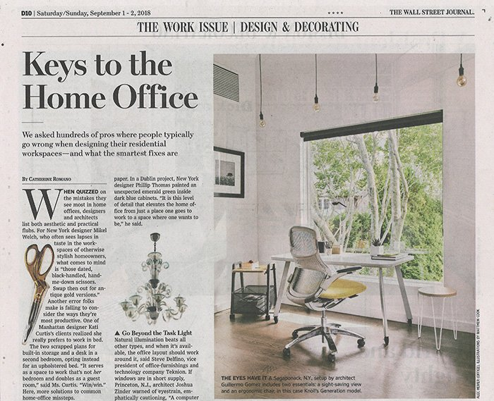 The Wall Street Journal Features Knoll Home Office Features Knoll