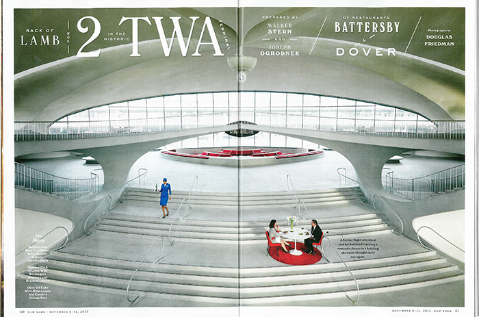 New York Magazine Shoots One Last Meal In Saarinen S Twa