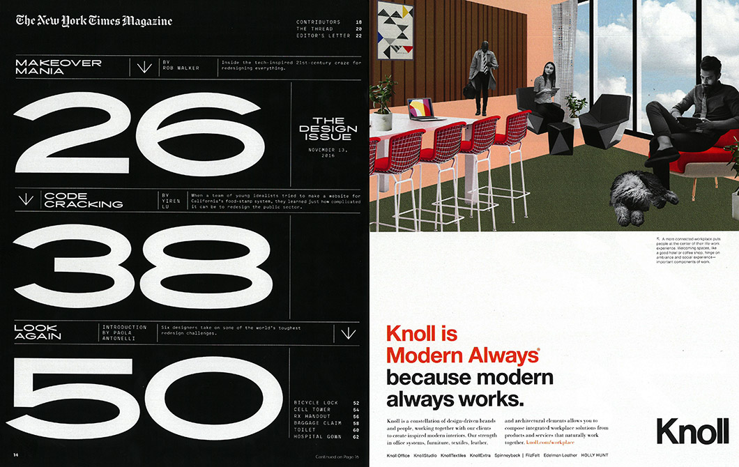 Knoll In The New York Times Magazine Knoll