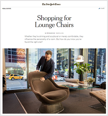Shopping for Lounge Chairs New York Times