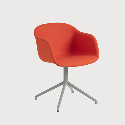 Muuto Fiber Armchair with Swivel Base for meeting seetting