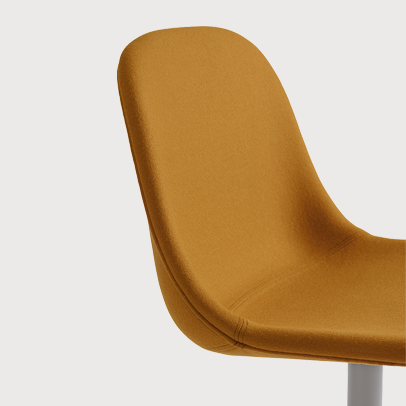 FIBER SIDE CHAIR IN KNOLL HOPSACK