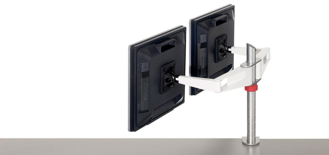 Sapper Double Monitor Arm Knoll