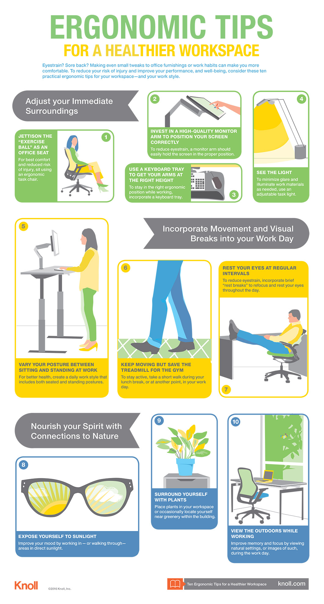 Tips To Curb Summertime Teen Laziness: Ten Tips For A Healthier Workspace Infographic