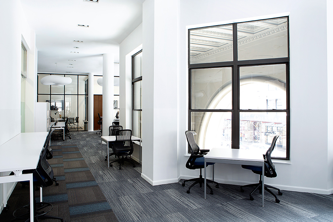Founder Andrew Raisej felt strongly that well-designed spaces that make workers feel comfortable and valued enhance creativity, collaboration and productivity. | Featured: ReGeneration by Knoll Work and High Task Chairs, Antenna Workspaces Tables