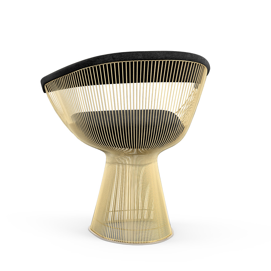 Superb Platner Arm Chair In Gold | Knoll