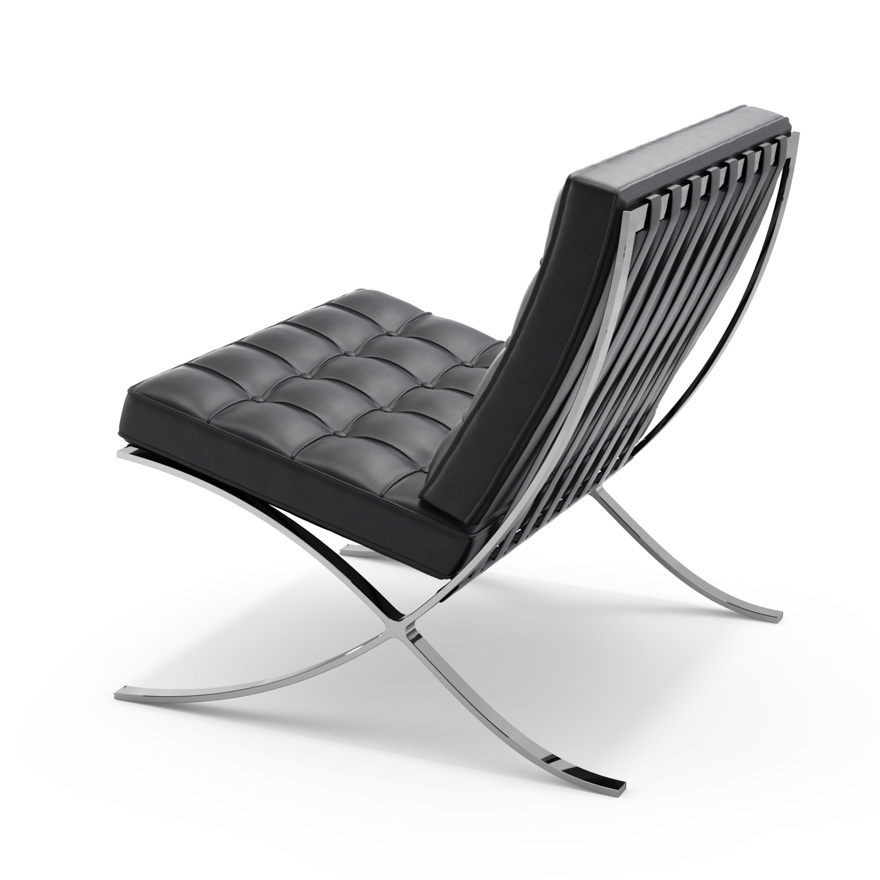 Barcelona Chair White barcelona® chair | knoll