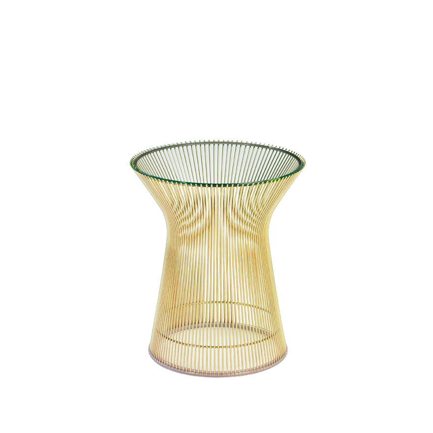 Etonnant Platner Side Table In Gold