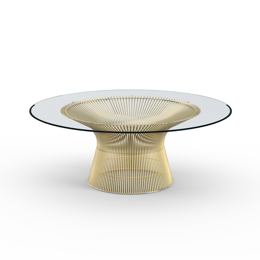 Platner Coffee Table 42 In Gold