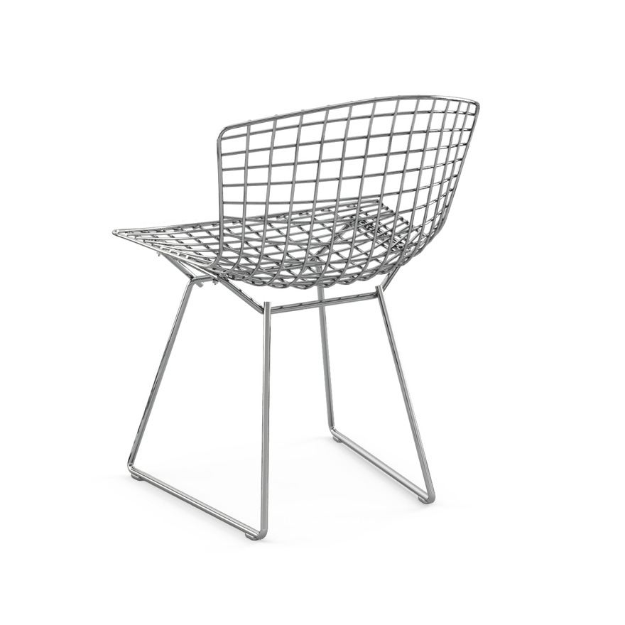Bertoia Wire Chair bertoia side chair without seat pad | knoll