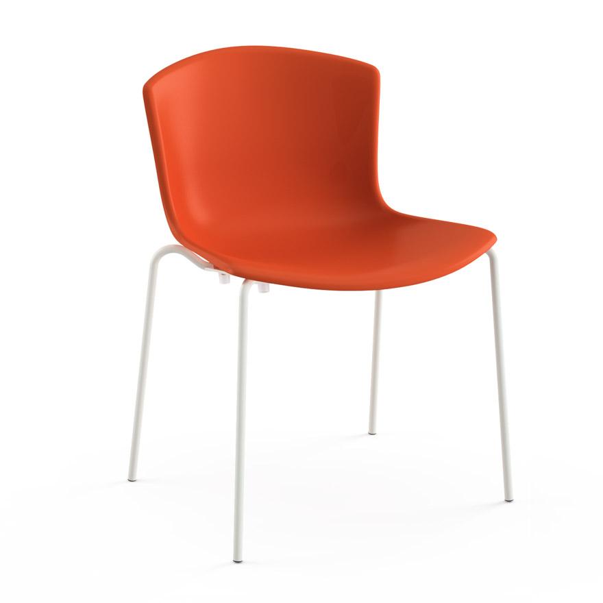Wondrous Bertoia Molded Shell Side Chair Stacking Beatyapartments Chair Design Images Beatyapartmentscom