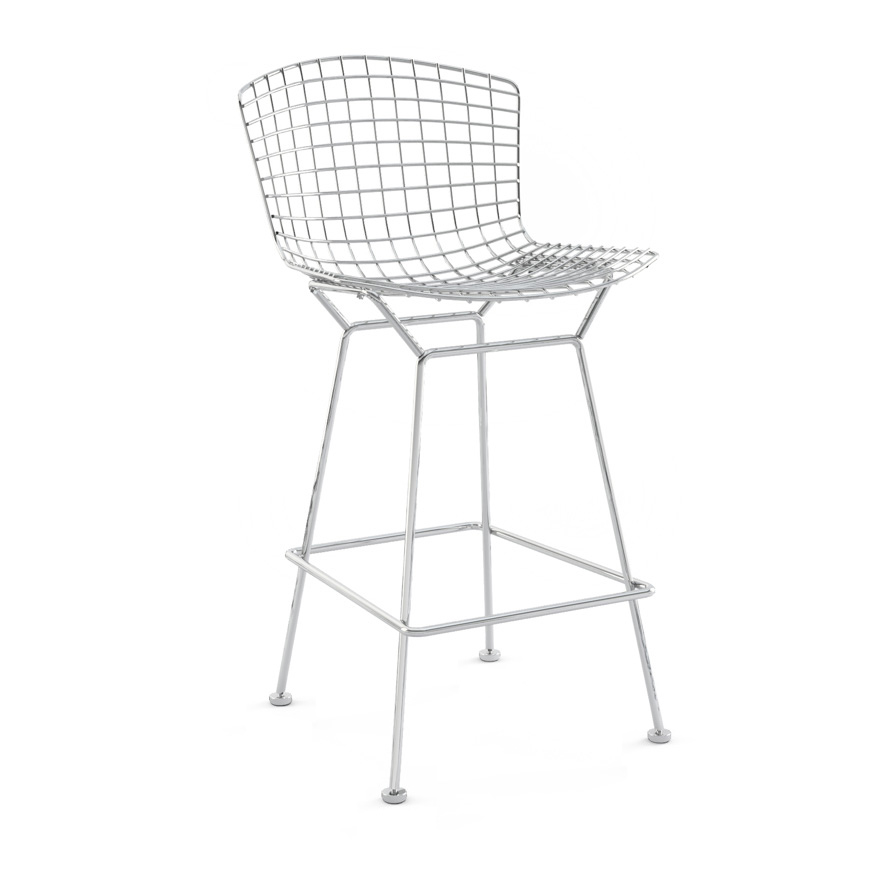 Fabulous Bertoia Barstool Counter Height Without Seat Pad Knoll Beatyapartments Chair Design Images Beatyapartmentscom