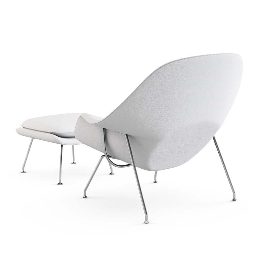 womb chair with ottoman knoll