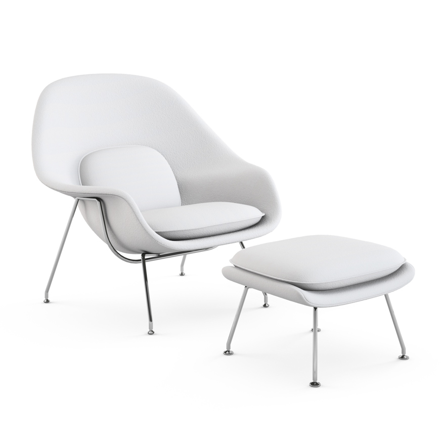 Attirant Womb Chair With Ottoman