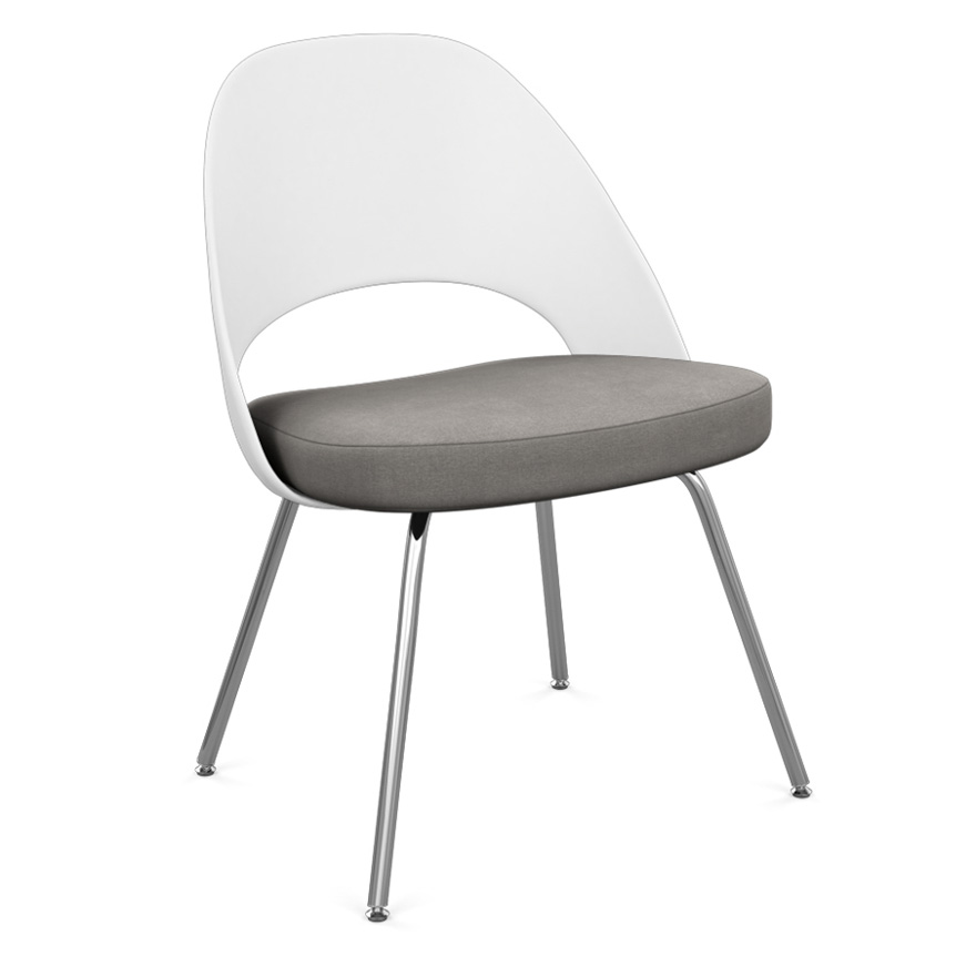 Saarinen Executive Armless Chair with Plastic Back