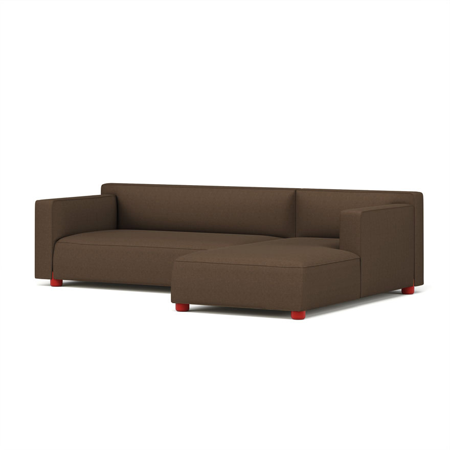Barber Osgerby Asymmetric Sofa with Chaise  sc 1 st  Knoll : chaise knoll - Sectionals, Sofas & Couches
