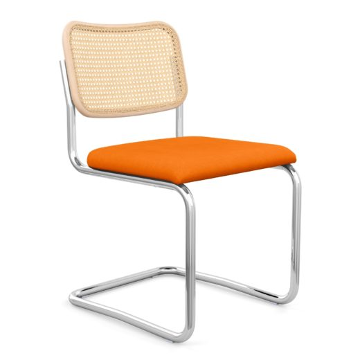 Cesca Sup ™ Sup  Chair– Armless With Upholstered Seat Cane Back