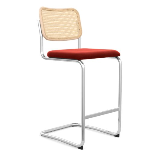 Cesca Sup ™ Sup  Stool– Upholstered Seat Cane Back